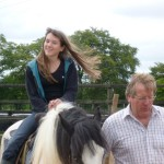 Horse ride by lead rein at Tullyboy Farm